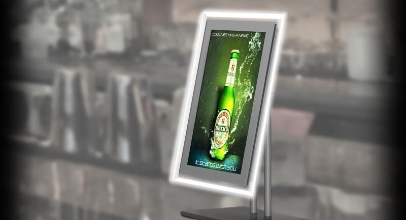 Рекламен дисплей с екран